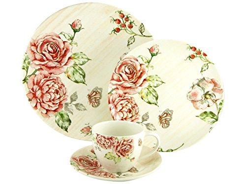 Creatable, 19715, Laura, Service de Table 30 piéces, Porcelaine, Blanc, 40 x 32,5 x 32,5 cm