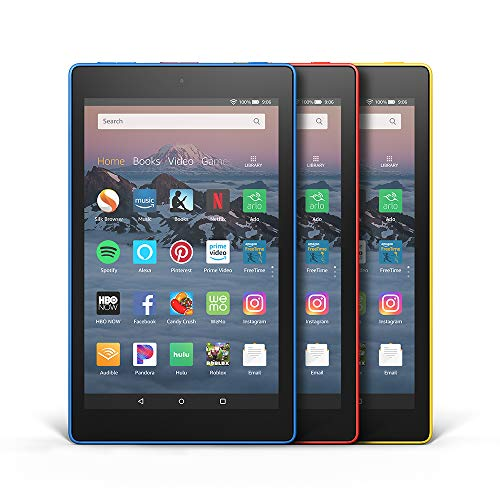 All-New Fire HD 8 3-Pack, 16GB - Includes Special Offers (Marine Blue/Punch Red/Canary Yellow)