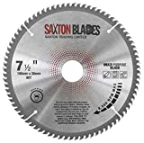 TCT19080TTCG <span class='highlight'><span class='highlight'>Saxton</span></span> TCT Circular Saw Blade 190mm x 80T x 30mm Bore (16, 20 and 25.4mm Ring) Aluminium Laminate Hardwood