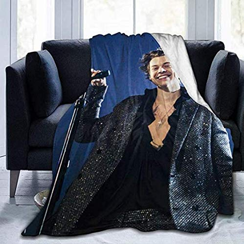 Hạrry-Styles Bedsure - Manta extra suave con impresión 3D, ideal para sofá, cama, sofá para todas las estaciones para damas, tamaño king