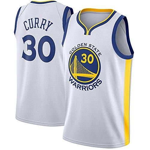 MAOMAOQUEENss Stephen Curry Camisetas Caloncesto 30,# Golden State Warriors,#NBA Nuevo Tejido Bordado, Estilo de Ropa Deportiva,Secado Rápido y Repetible Limpieza,Tamaño Estándar S-XXL,White-L