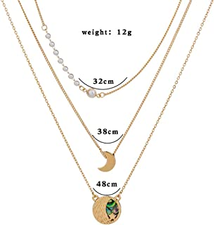 Jxc European And American Ins Fashion Metal Multi-layer Necklace Clavicle Chain Roman Portrait Pearl Pendant Neck Chain(Nz...