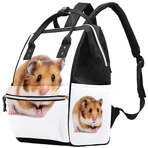 Mochila de viaje para el ocio y la escuela, linda mochila de hámster multifunción con correa ajustable para hombres, mujeres, niñas y niños