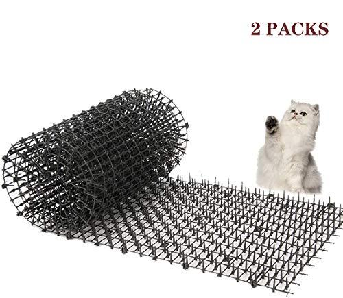 Kyrieval - Pinchos Anti Gatos, tiras de espigas para animales de mascotas, repelente para disuasión(2 unidades)