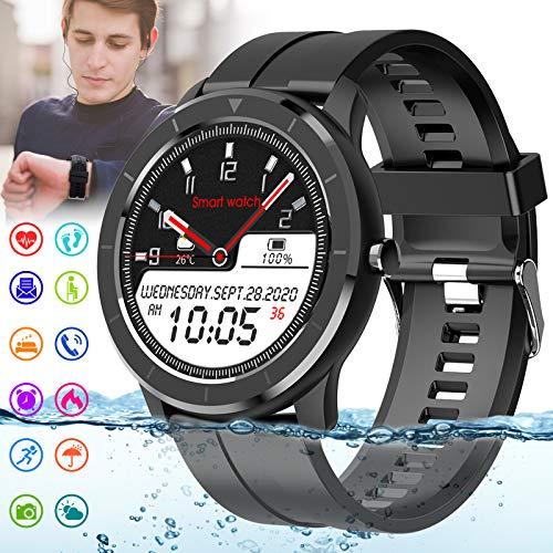 Adhope Smartwatch Fitness Tracker IP68 Wasserdicht mit Schrittzähler Blutdruckmessung Blutsauerstoff Pulsuhr Schlafmonitor Sportuhr Armbanduhr für Herren Damen Bluetooth Smart Watch für iOS Android