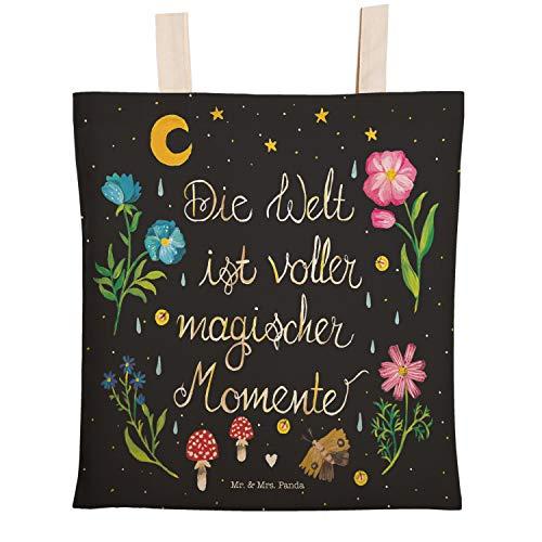 Mr. & Mrs. Panda Stofftasche, Beutel, Einkaufstasche Magische Welt mit Spruch - Farbe