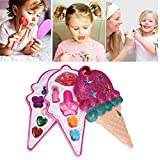 TAIPPAN Set de Maquillaje para niños Cosméticos Lavables Girl Makeup Cute Ice Cream Styling Jugar Juegos de imaginación Ideal para Little Princess Princess Birthday Gift