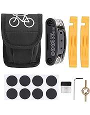 Lucaic 24 Cykel Reparations Kit Set Inklusive Patch Kit Tire Levers Punktur Reparation Kit Däck Fix Verktyg Och 16 I 1 Multifunktionell Reparation Cykel Verktyg För Rid