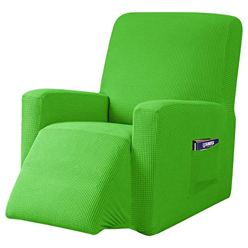 subrtex Recliner Chair Cover Stretch Recliner Slipcover Lazy Boy Covers for Furniture Protector Rocker Sofa Cover with Side Pocket (Recliner, Grass Green) -  SBTZHS021