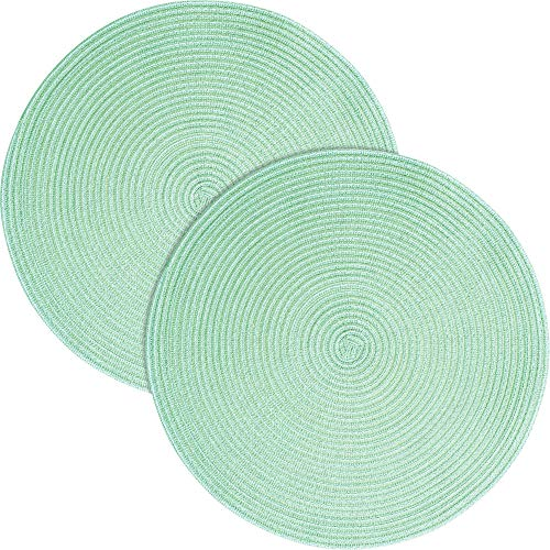 Pichler Tischset Samba 2er-Pack lindgrün Größe rund: 38 cm Ø