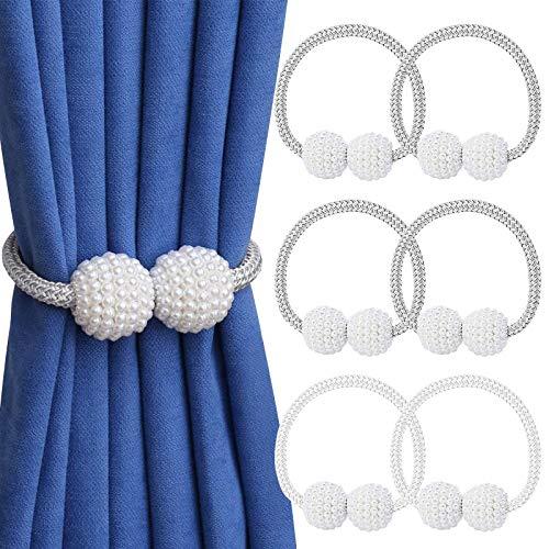 VEGCOO Magnetic Curtain Tiebacks Convenient Drape Tie Backs (6 Pack) -...