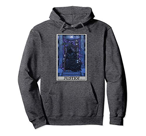 Preisvergleich Produktbild hyg03j4 Justice Tarot Card Grim Reaper Halloween Gothic Clothing Pullover Hoodie XL
