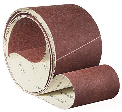 Awuko KP80E Schleifband/Schleifbänder | 120x450 mm | 20 Stück | Körnung/Korn: 120 (20 Bänder)
