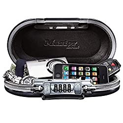 Box application: For indoor and outdoor use; portable safe is ideal for travel, campus or office use; ideal used to temporarily secure small electronic devices, passports, cash and credit cards Ease of use: Resettable four dial combination for keyles...