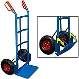 Deuba Carretilla plegable de mano Azul carreta de transporte carga máx 200Kg con 2 Ruedas portátil mudanza 45,5x116cm
