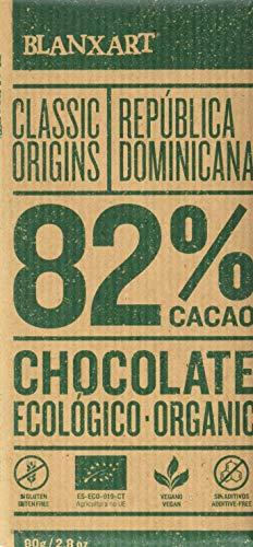 Blanxart Tableta de Chocolate Negro Ecológico - República Dominicana 82% Cacao 1 Unidad 80 g