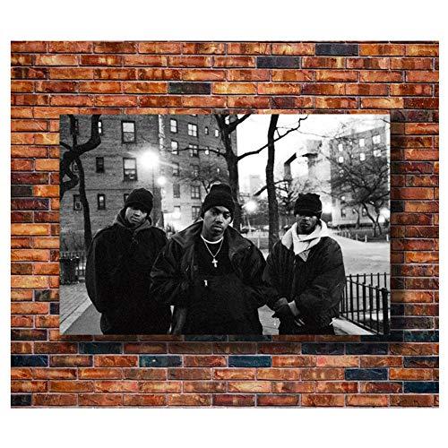 hutianyu NAS Time is Illmatic Hip Hop Poster Druck Leinwand MalereiHome Wohnzimmer Dekoration -60x80cm No Frame
