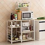 """Mifelio 35.5""""Kitchen Baker s Rack Utility Storage Shelf Microwave Stand 4-Tier 3-Tier Shelf for Spice Rack Organizer Workstation,Made in the USA"""