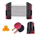 Tabletop Table Tennis Games Set Professional Ping Pong Paddle Set, Anywhere Ping Pong Equipment to-Go Includes...