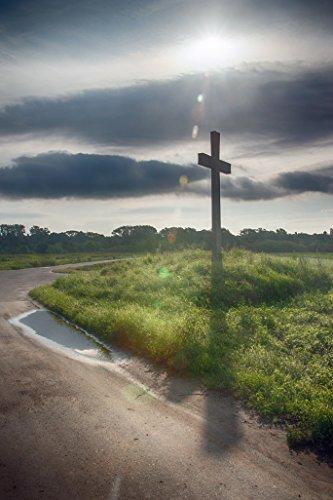 Zopix Premium Poster Kreuz Religion Christlich Fotoposter Wandbild XXL - 91x61 cm, versch. Größen - Top-Qualität - professioneller Digitaldruck