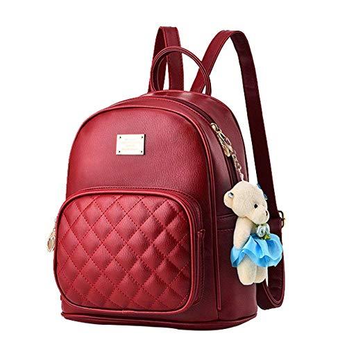 Mochila pequeña blanca para las mujeres monedero de las mujeres impermeables lindas Mochila niñas Equipaje de cuero Mini mochila Bookbag monedero