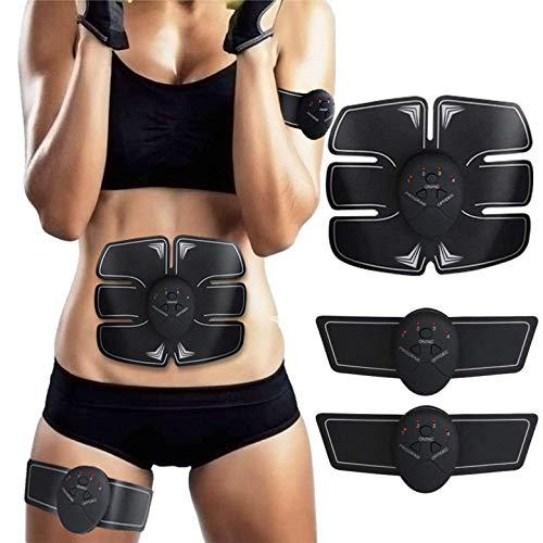 ZHENROG EMS Bauchmuskeltrainer, EMS Trainingsgerät, Muskelstimulation,Professional Bauch Muskel Trainer Elektrisch für Herren Damen,Abnehmen und Muskeln aufbauen,Tragbarer Muskel Trainer