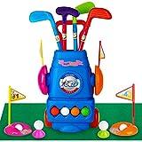 Meland Kids Golf Club Set - Toddler Golf Ball Game Play Set Sports Toys Gift for Boys Girls 3 4 5 6 Year Old