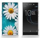 FUBAODA Funda para Sony Xperia XA1 Ultra Cristal Claro, Encantador Dibujo de Margaritas, Flexible[Antipolvo][A los Arañazos] Funda para Sony Xperia XA1 Ultra (6.0')