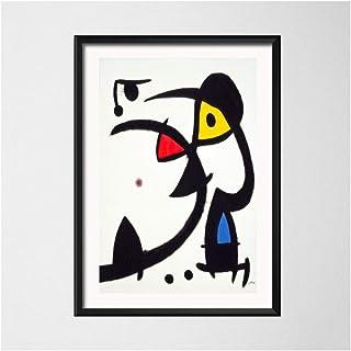 NIEMENGZHEN Impresión en Lienzo Joan Miro Surrealismo Moderno Pinturas artísticas Cuadro Abstracto Arte Retro Lienzo Pintura Poster Wall Home Decor 11.8