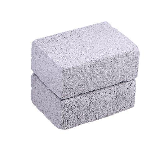 BESTonZON 2pcs Limpiador de Piedra a la Parrilla Limpiador ecológico de Piedra Piedra pómez Parrilla Bloque para Limpiar Parrillas o Rejillas Piedras Desechables Reutilizables