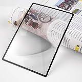 QINGJIA 80x120mmhot Venta de Hoja Plana de PVC A5 Convinient Lupa X3 Página Libro Magnifying Lectura Lente de Cristal Lectura/Obeservación/Reparación