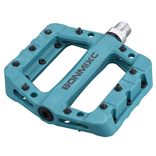 BONMIXC Pedali MTB Leggero Composito Bicicletta Pedali Sigillati Cuscinetto 9/16 Filettatura Piatta Bike Pedali Blu