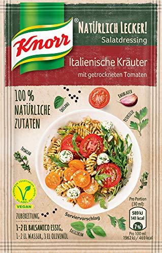 Knorr Natürlich Lecker Salatdressing Italienische Kräuter, 10er Pack, (10x25.5g)