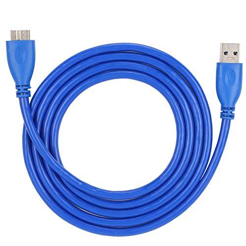 Cable USB, A/B Micro 1m / 1.5m A/B Cable USB 3.0 Azul Macho para Impresora para Disco Duro para PC(1.5m)