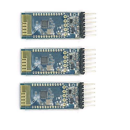 WINGONEER 3Pcs SPP-C Bluetooth Serial Wireless Communication Module Replaces HC-05 HC-06