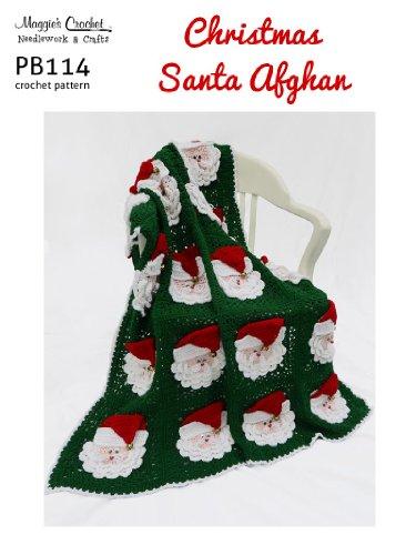 Crochet Pattern Christmas Santas Afghan PB114-R