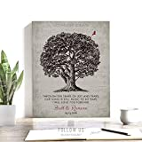 10 Year Anniversary Gift, Sheet Music, Large Oak Tree, Love Poem, Personalized Gift For Couple, Custom Art Print on Paper, Canvas or Metal #1331