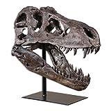 Zinc Decor Large Dinosaur Skull Sculpture T Rex Head Natural Looking Bone Tyrannosaurus