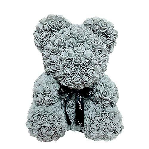 Soulitem - Oso de Rosas de 40 cm, con Silueta de Oso y corazón, Gray