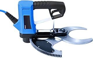 Tijera de podar eléctrica recargable, herramienta cortadora de ramas de árboles para jardinería, diámetro de corte: 80 mm, azul, tipo cableado