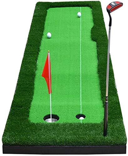 BRFDC Alfombras de Putting Espacio Abierto del Golf Practicar Mat Indoor Golf Set práctica Que Pone portátil, Verde tamaño: 50 / 75x300cm (Talla : B:75x300cm)