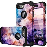 Fingic iPhone 6S Case, iPhone 6 Case 3 in 1 Heavy Duty Protection Hybrid Hard PC & Soft Silicone Rugged Bumper Anti Slip Full-Body Shockproof Protective Case for Apple iPhone 6 / 6s - Nebula Black
