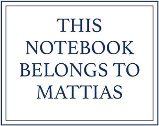 This Notebook Belongs to Mattias