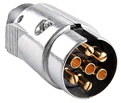 Anhängerstecker 7polig Stecker 7 Metall Autoanhänger Stecker
