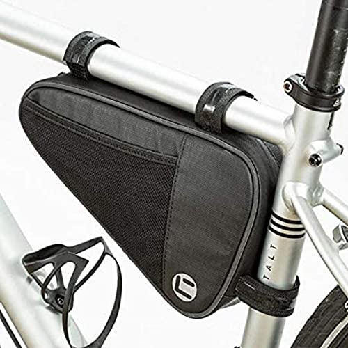 Bolsa Triangular De Bicicleta, 1L Gran Almacenamiento Impermeable Bolsa Para Cuadro De Bicicleta Con Borde Reflectante Bolsa Bicicleta Tubo Frontal Para Mini Bicicleta Herramienta De Reparacion
