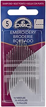 16-Pack DMC Size 5 Embroidery Hand Needles