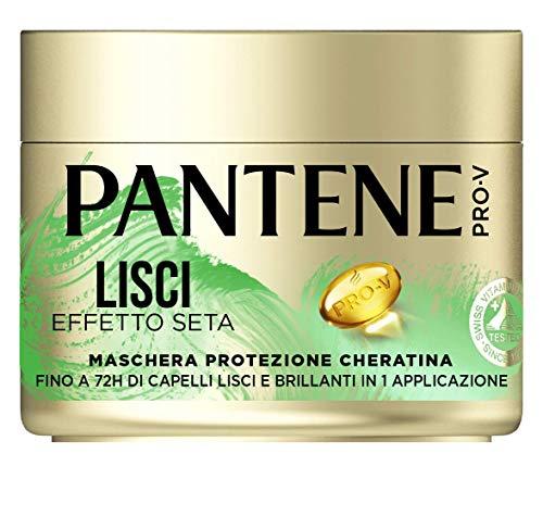 Pantene Pro-V Maschera Lisci Effetto Seta Protezione Cheratina, per Capelli Crespi, 300 ml
