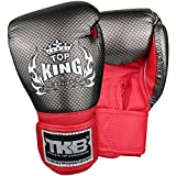 Top King Boxing Boxhandschuhe, Kinder, Carbon, schw-Rot, M