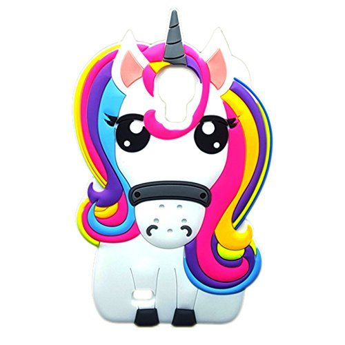 Rainbow Unicorn Samsung Galaxy S4 Case,Awin 3D Cute Cartoon Rainbow Unicorn Horse Animal Soft Silicone Rubber Case for Samsung Galaxy Galaxy S4 IV i9500