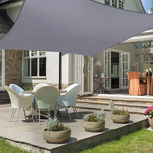 DAMAI Toldo para Jardín, Vela De Sombra Rectangular con 4X Cuerdas De Fijación, Impermeable Protección Rayos UV Resistente,3x4m